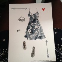 Megan Lynn Kott's rendering of Kelechi's Costume of the Day!